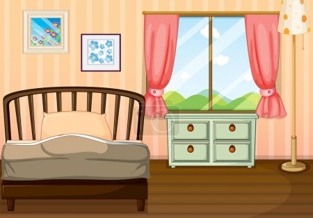 Illustration for Illustration of an empty bedroom - Royalty Free Image