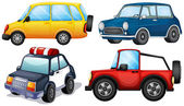 Four different cars