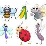Постер, плакат: Different insects