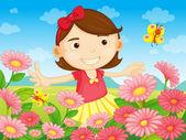 Květiny a pretty woman