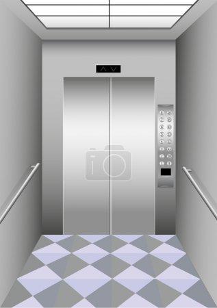 Illustration of a building elevator...