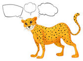 Illustration of the empty callouts with a leopard on a white background