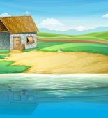 A house near the river