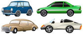 Four sets of luxury cars