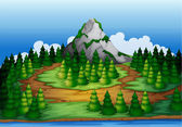 An island full of pine trees