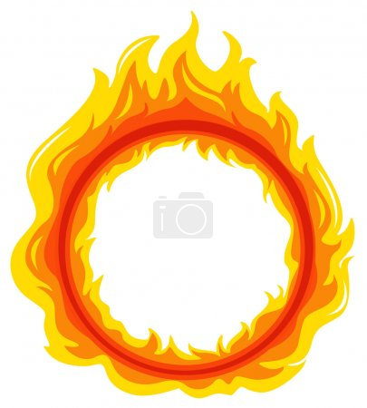 Illustration for Illustration of a fireball on a white background - Royalty Free Image