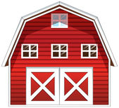 A red barn house