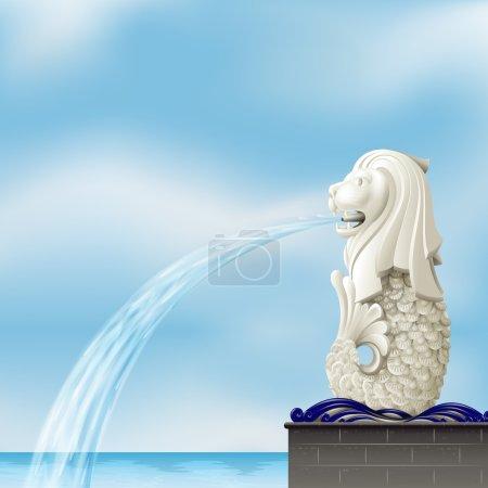 A white merlion