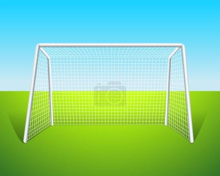 A soccer goal