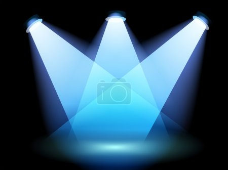 A spotlight at the stage