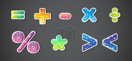 Colorful signs and symbols