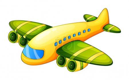 Illustration pour Illustration d'un avion sur fond blanc - image libre de droit