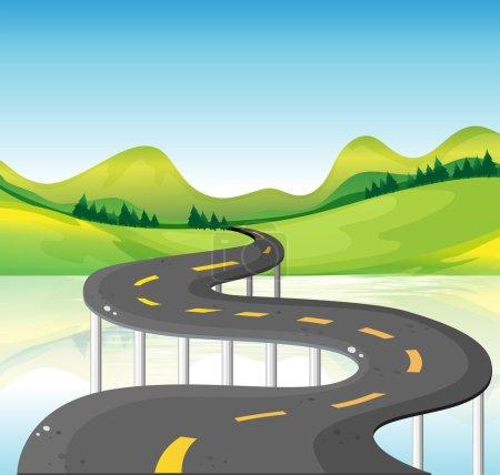 A very narrow curve road