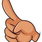 Illustration of a finger pointing on a white backg...