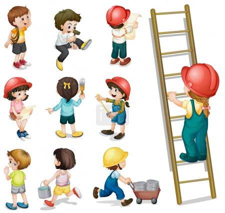 Kinder arbeiten