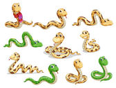 A group of voluptous snakes