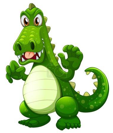 An angry crocodile