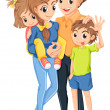 Illustration of a family on a white background...