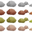 Illustration of the different rocks on a white bac...
