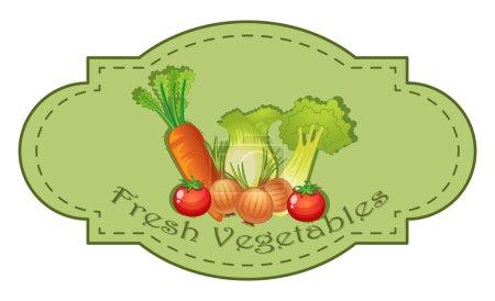Fresh Vegetables label