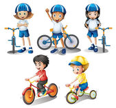 Kids with their bikes