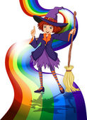 A witch at the rainbow
