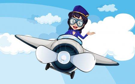 A hostess on a plane