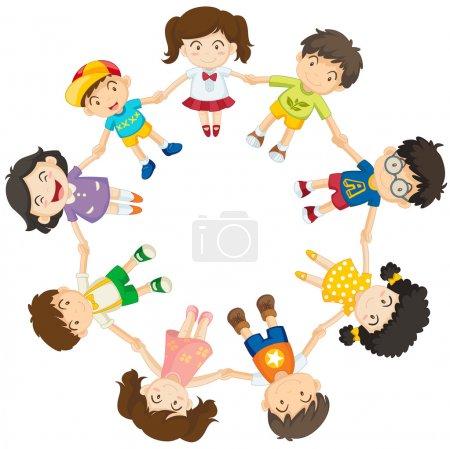 Kids forming a circle