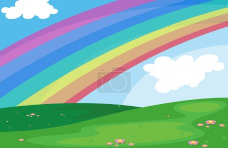 A rainbow in the sky