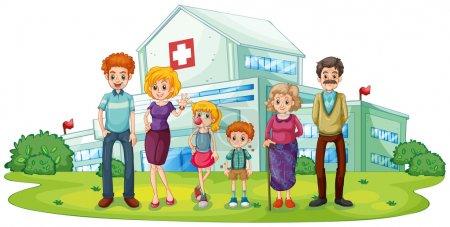 A big family near the hospital