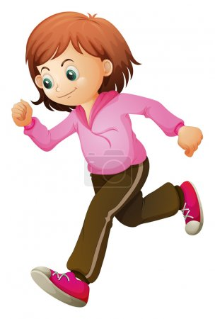 A young child jogging