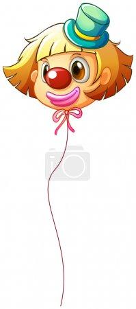 A female clown balloon