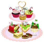 A tray with different baked goods