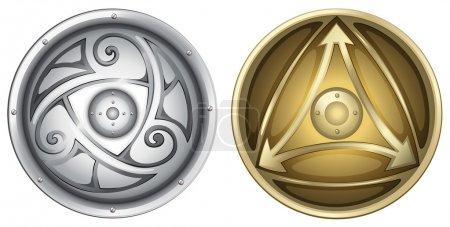 Illustration for Illustration of vikings shields - Royalty Free Image