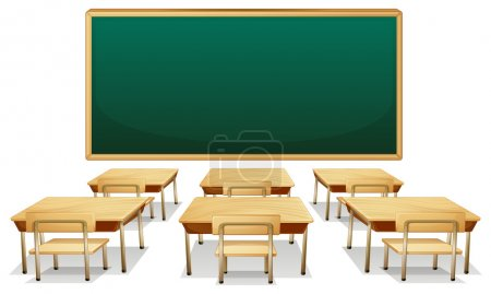 Illustration for Illustration of an empty classroom - Royalty Free Image