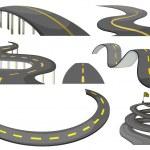 Illustration of a set of roads...