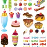 Постер, плакат: Different sweets