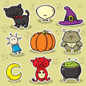 First set of halloween icons