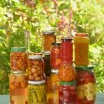 Autumn preserves - vegetables in jars...