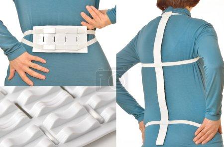 Spine massage belt for hernia pain