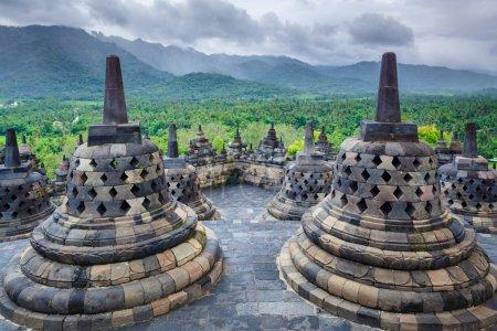 Borobudur Buddist temple Yogyakarta. Java, Indonesia