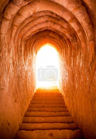 light at end of tunnel in castle