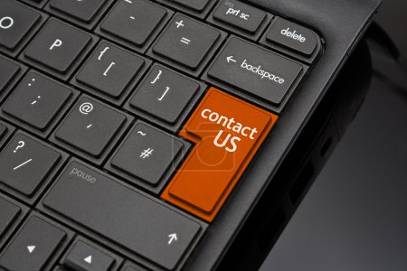 Photo for Contact us Return Key symbolizing a call to action request for further information from a website on the internet - Royalty Free Image