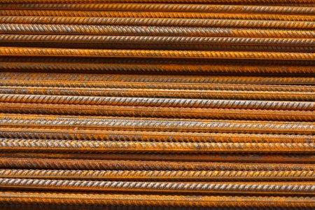 reinforcing steel bars or rebar background