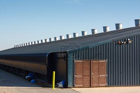 Commercial poultry farming building