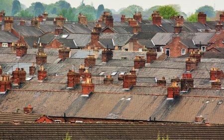 Suburban rooftops common urban scene