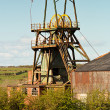 Pit head winding gear iconic colliery or mine work...