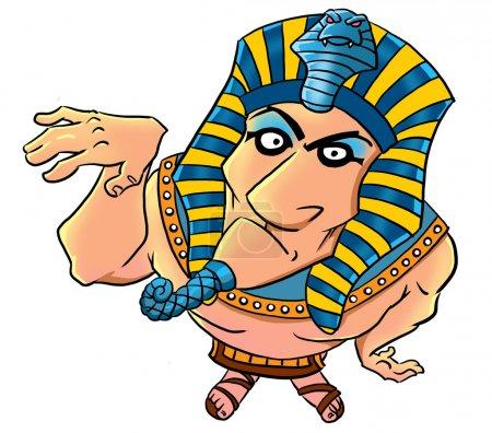 Funny cartoon egyptian pharaoh