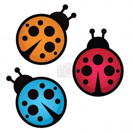 Ladybug. Vector illustration.