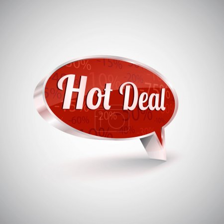 Hot deals vector icon, illustration